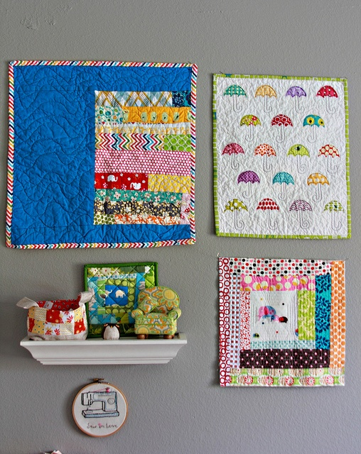 Cute display for a craft room.