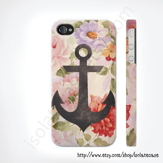 Anchor on vintage floral iphone case iphone 5 case by IsolateCase, $24.50