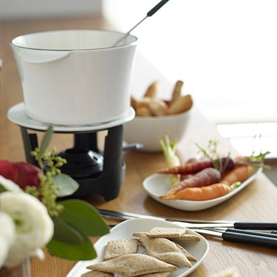 Whiskey-Cheese Fondue // Cooking with Spirits: www.foodandwine.c... #foodandwine