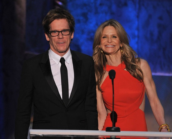 Kevin Bacon and Kyra Sedgwick presented together at the SAGs