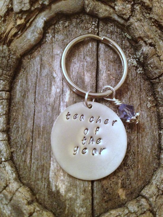 Teacher of the Year Keychain - Teacher Gift, Teacher Appreciation, End of Year Gift