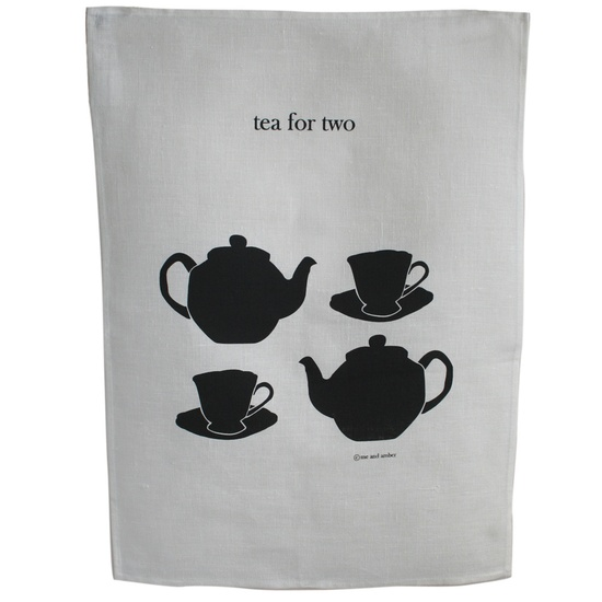 tea for two tea towel by 'me and amber'
