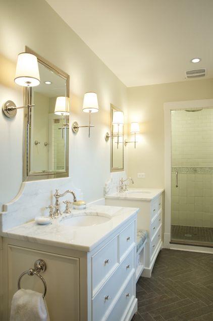 vanities, master bathroom