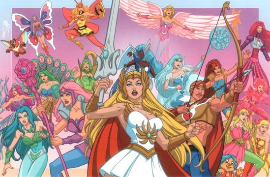 She-Ra Princess of Power; He-Man's twin sister. I hung out for Saturday morning cartoons every weekend when I knew that I would get a dose of She-Ra.