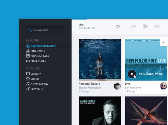 Creative Media Player Tablet UX and UI Design #mobile #ux #ui #tablet