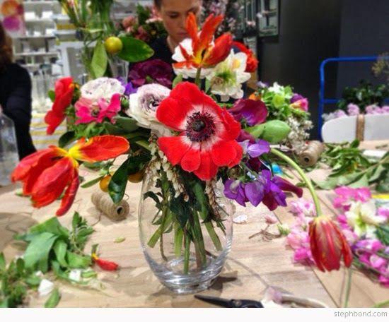 Bondville: Flower arranging by vase shape - tips from Holly Hipwell