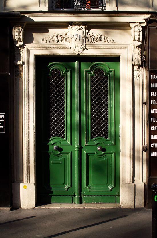beautiful green doors