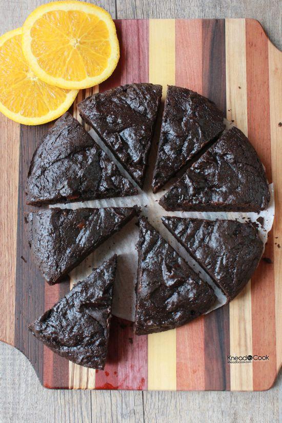 Dark Cocoa Orange Chobani Low Fat Brownies.