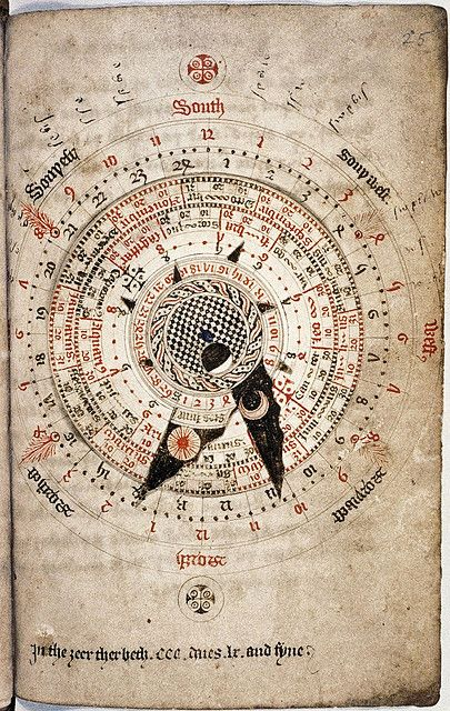 Astronomical calendar, by Nicholas of Lynn, ca. 1324 / Sacred Geometry ?