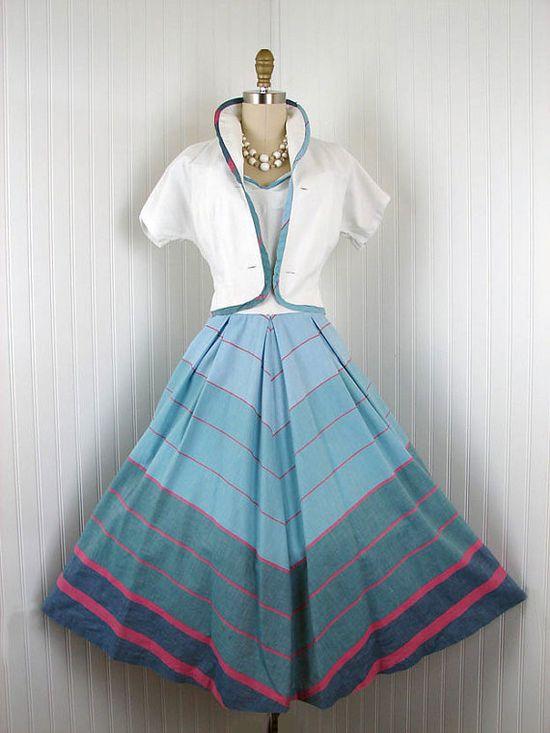 1940s 1950s Dress