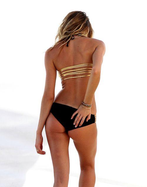 Gold And Black Bikini