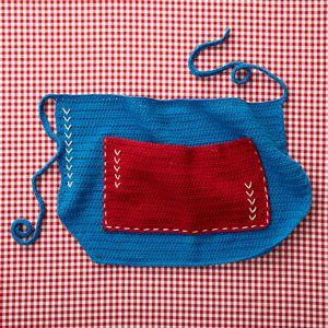 4th Of July Apron -- free #crochet pattern