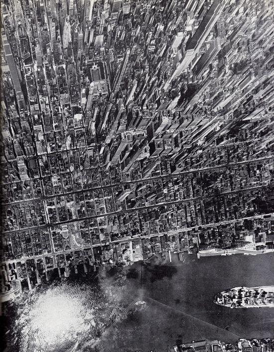 Impact vertical view of Midtown Manhattan, July 1944