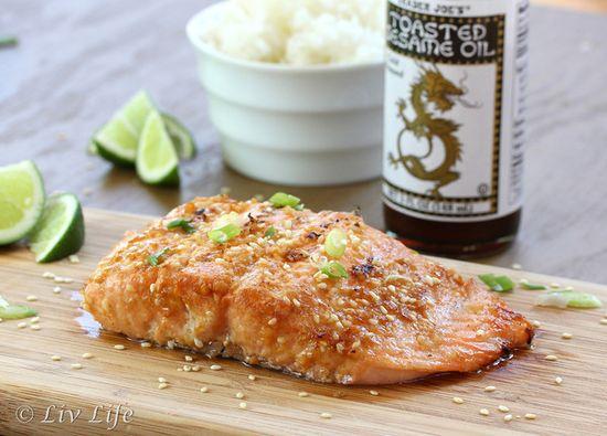 Asian Sesame Salmon by kimkelly.smugmug #Salmon #Sesame