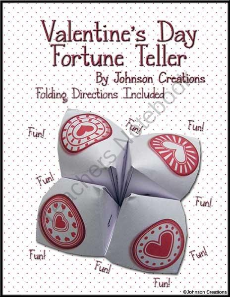 Valentine's Day Fortune Teller product from Johnson-Creations on TeachersNotebook.com
