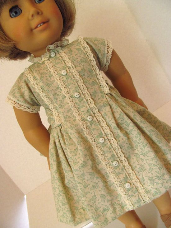 Vintage Style Dress, American Girl Doll Clothes