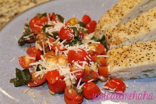 Easy, fresh, healthy dinner: chicken bruschetta