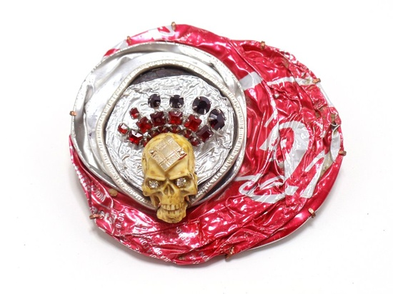 Robert Ebendorf  King of the Road, Brooch, 2011: mixed media  Elizabeth R. Raphael Founder's Prize Honorable Mention
