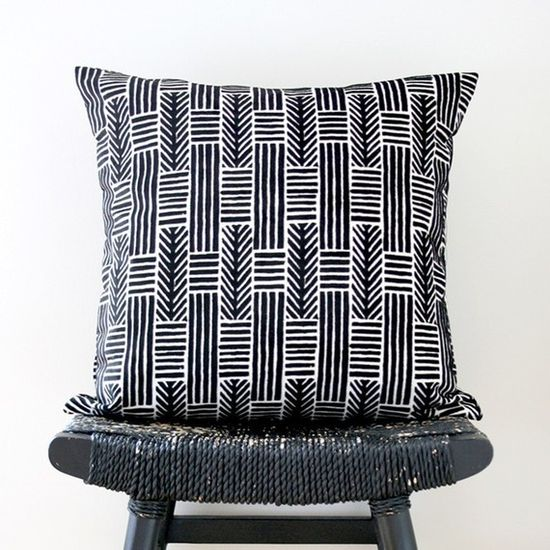 Lines and Arrows Pillow from Be Still