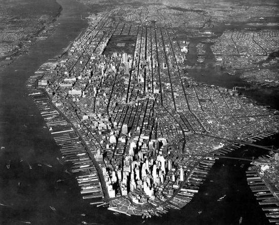 A 1933  shot of Manhattan. New York City.......