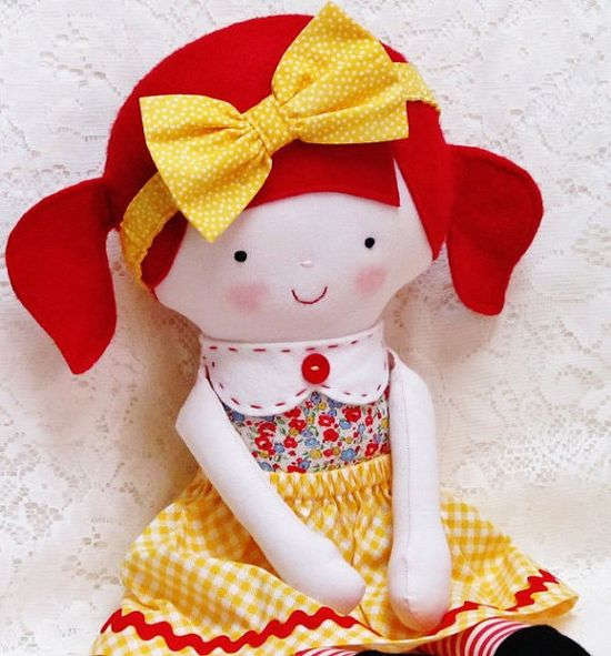 Doll Pattern Softie Pattern Soft Toy Pattern Cloth by OhSewDollin, $10.00