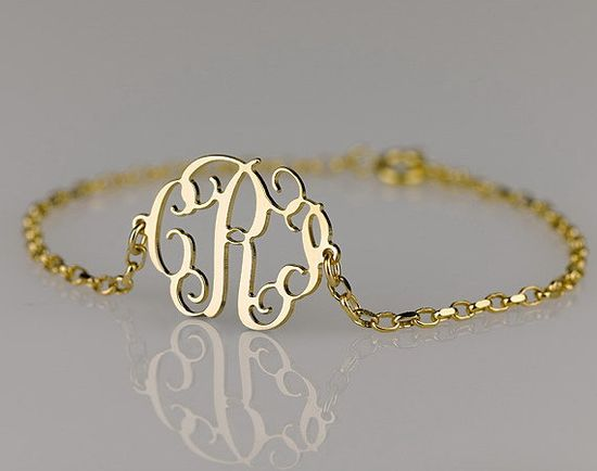 Monogram Bracelet via Etsy... And the necklace.