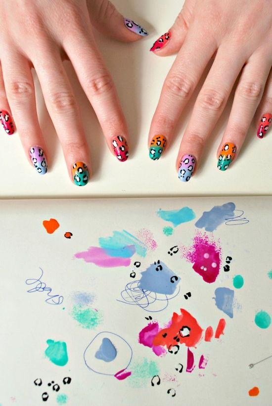 leopard fade nail art tutorial! burkatron
