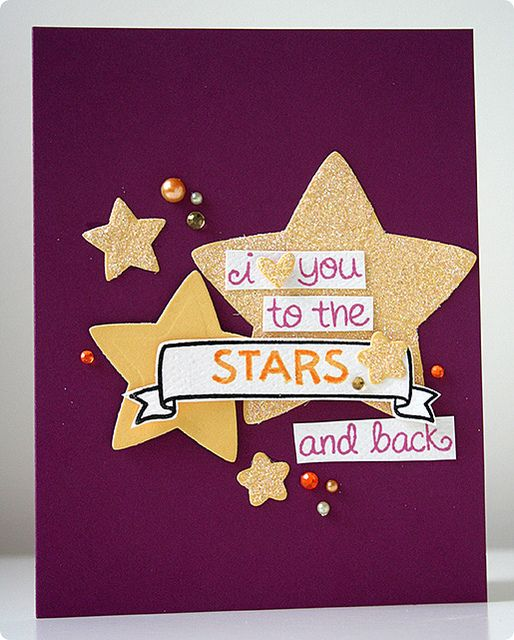 Lawn Fawn - Lucky Stars, Puffy Stars dies, Home Sweet Home banner stamp and die _ i love you....