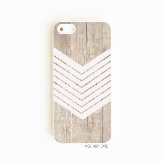 iPhone 5 Case iPhone 5S Cases Wood Geometric White Minimalist