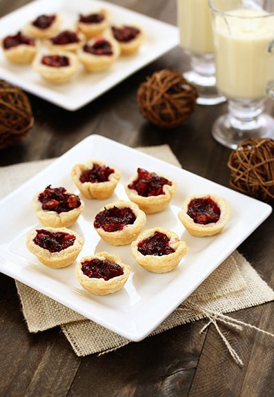 Bite Sized Mini Cranberry Walnut Tarts by goodlifeeats: For left over cranberry relish!