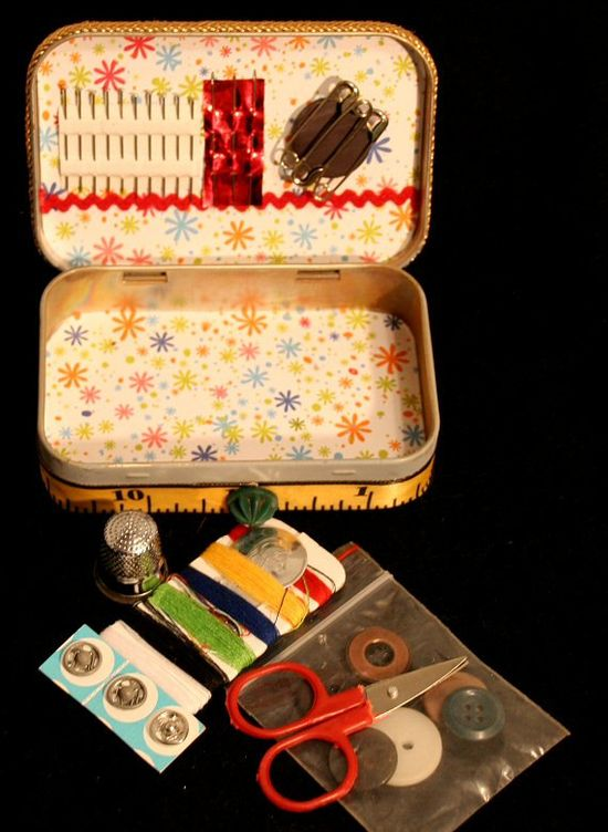 Travel Sewing Kit in an Altoids Box