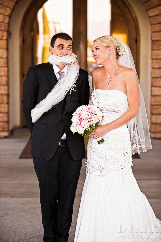 fun romantic wedding photo