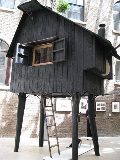 tiny home on stilts