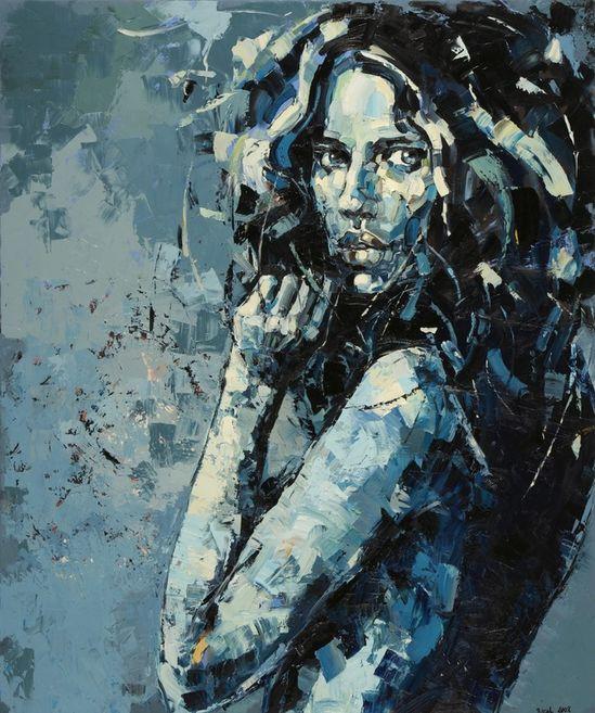 "Saatchi Online Artist: Anna Bocek (Poland); Oil, Painting ""Twilight I"""
