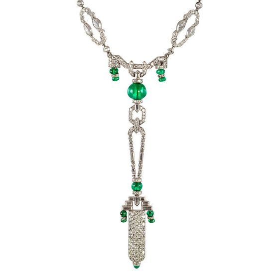 OSTERTAG Spectacular Pendant Watch on Diamond Chain  France  Circa 1920