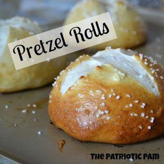 Recipe for homemade pretzel rolls.