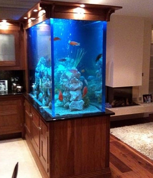 aquarium in home interior decorating 32