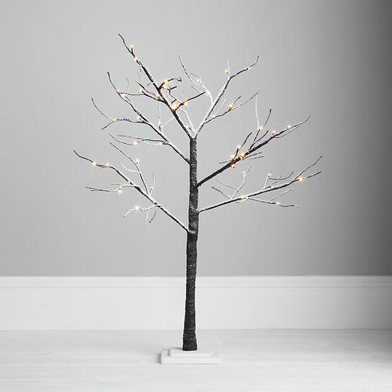Snow white xmas twig tree garden decoration