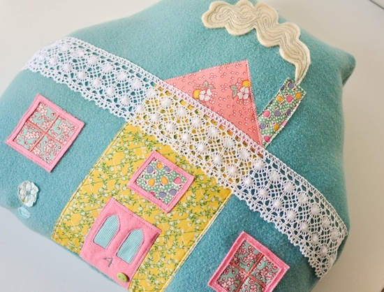 Number 4 love Street Handmade House pillow