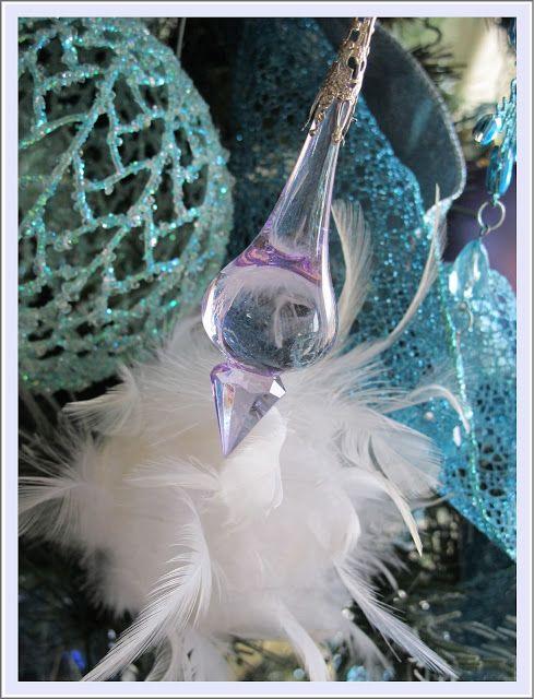 Christmas decor ~ Icy Aqua Splendor