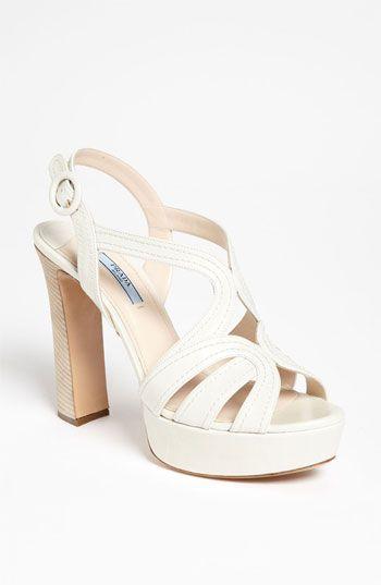 Gorgeous: White Prada sandals.