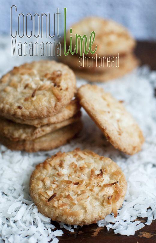 coconut macadamia lime shortbread cookies!