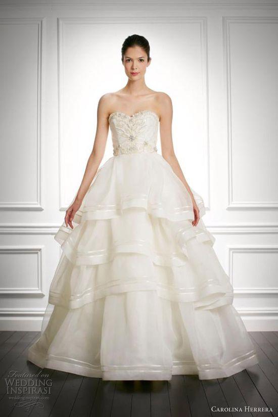 carolina herrera bridal fall 2013 josephine wedding dress ball gown