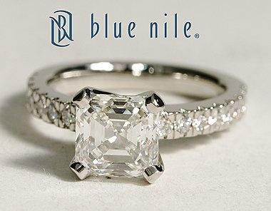 Nouveau Asscher Cut Diamond Engagement Ring in Platinum #BlueNile
