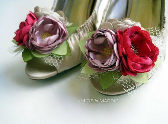 rose shoe clips