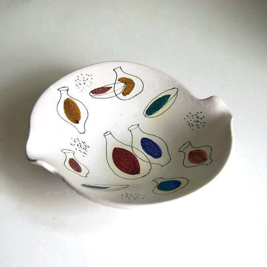 Vintage Modernist Bowl Mid Century