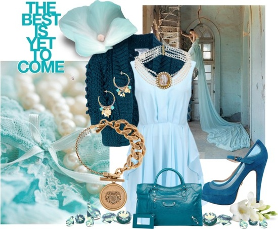 """Shades of Blue"" by rhondahenninger1 on Polyvore"