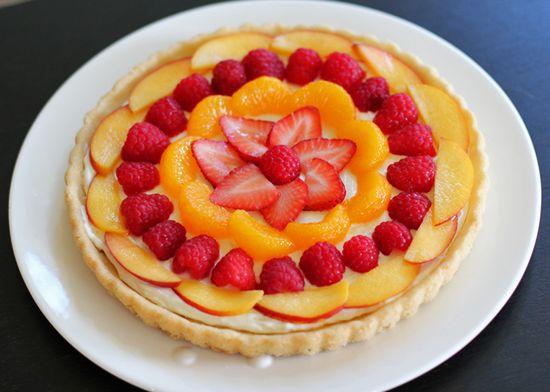 Summer dessert fruit pizza.