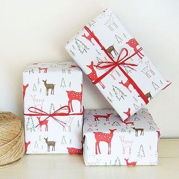 Christmas Deer Gift Wrap