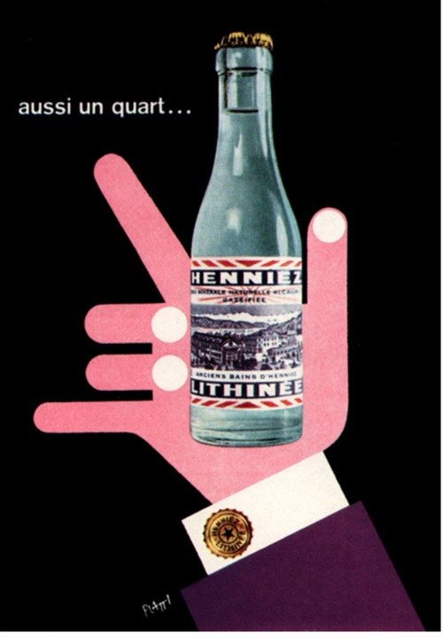 Poster for a Swiss mineral water. From Graphis Annual, 1958/59.